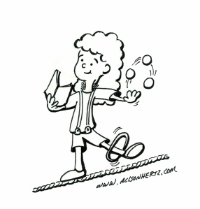 juggling reading wire